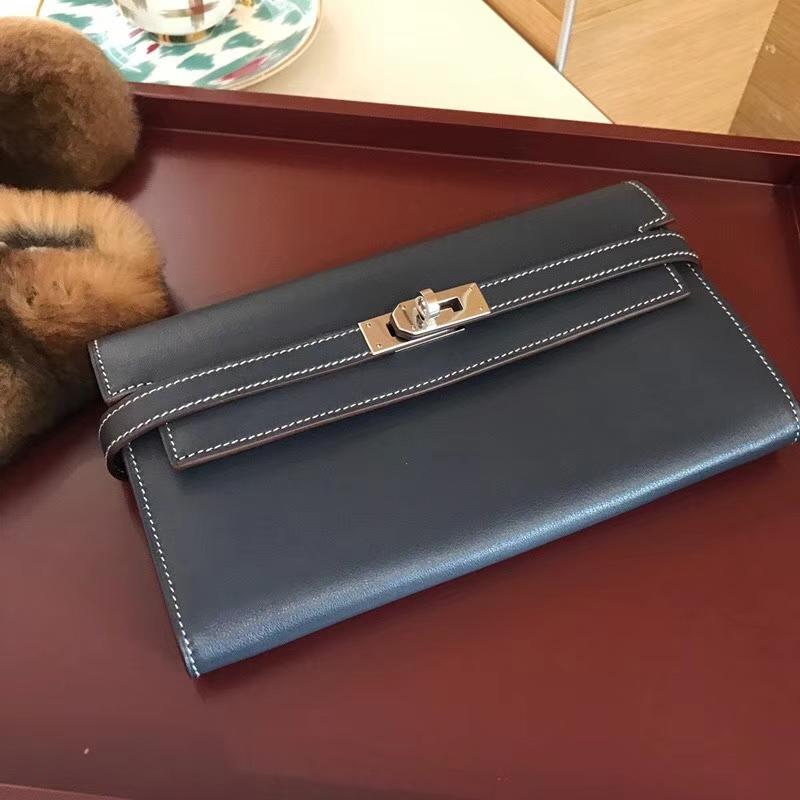 CC73 宝石蓝 Blue Saphir  Kelly Wallet 凯莉长款钱包 配全套专柜原版包装