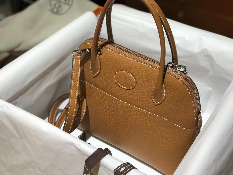 Hermes 爱马仕 Bolide Epsom皮ck37 金棕色 gold 27cm 可接受定制