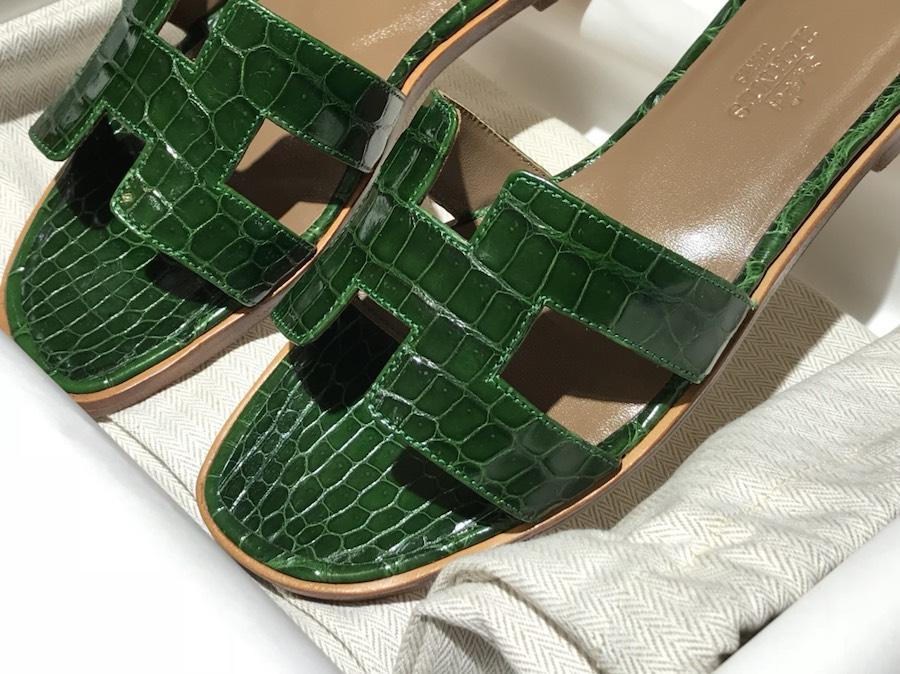 Hermes 鳄鱼皮 高端订制独家品质 翡翠绿 独家订制款