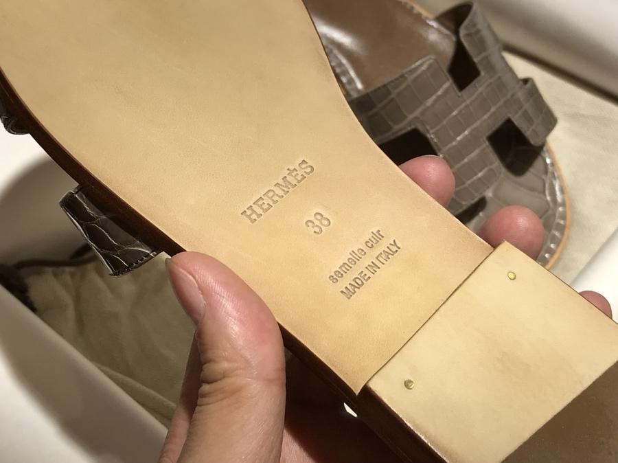 Hermes 鳄鱼皮 高端订制独家品质 大象灰 独家订制款码数不可换