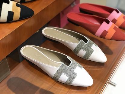 秋冬新款麂皮 Chamois Leather女士平底鞋 粉色 高端订制