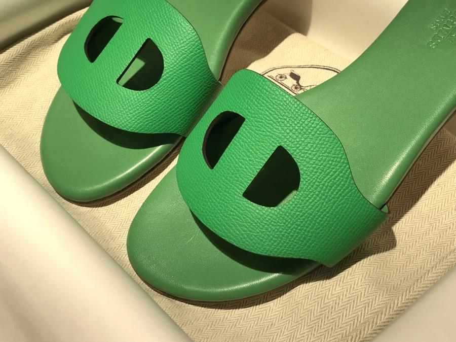 猪鼻子拖鞋高端订制独家品质 竹子绿 全部订制款码数不可换