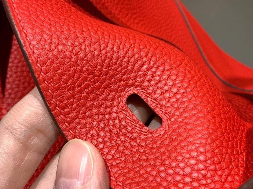 Lindy 26/30cm Togo皮 纯手工 s5番茄红rougetomate 配全套专柜原版包装