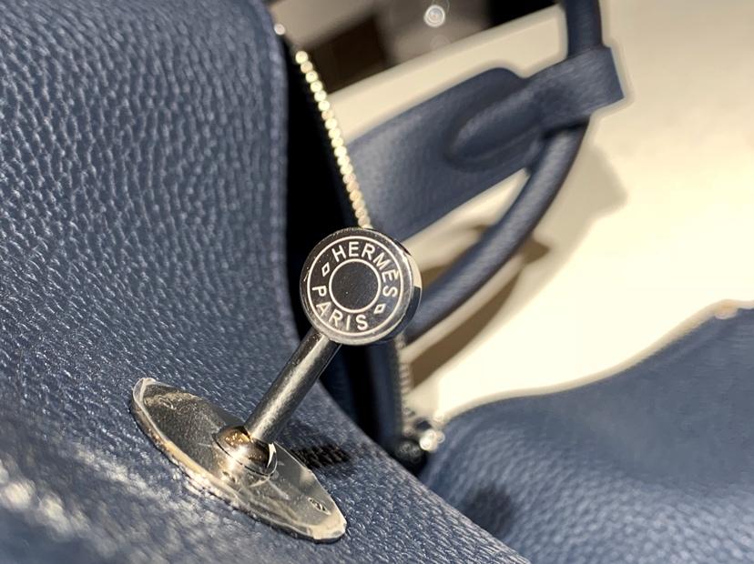 琳迪包 Lindy  togo皮 纯手工 风暴蓝 银扣 配全套专柜原版包装