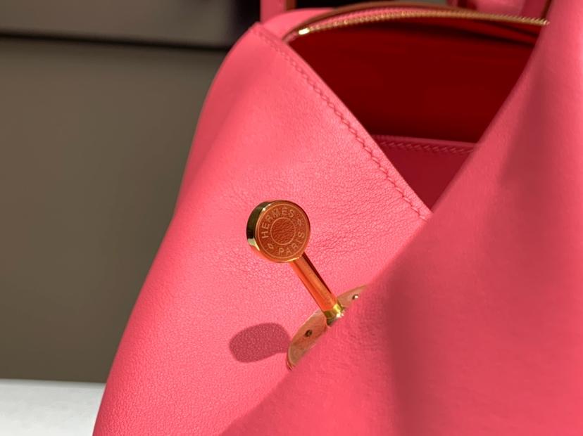 Lindy 26/30cm 纯手工 t5斋普尔粉蜜桃粉rosejaipur 金扣 配全套专柜原版包装