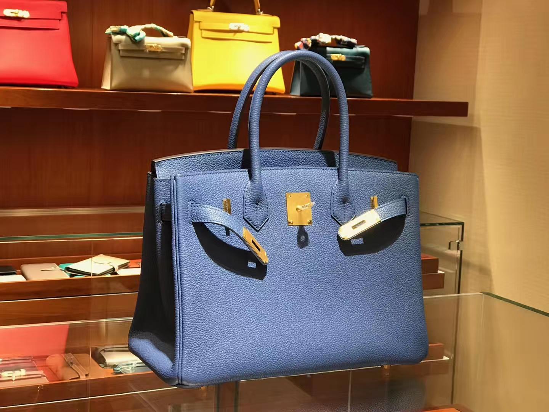 爱马仕 HERMES 铂金包 Birkin 25cm 30cm 玛瑙蓝 配全套专柜原版包装 全球发售