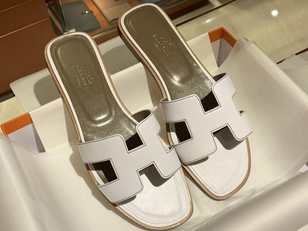 爱马仕拖鞋 H新款swift拖鞋 高端订制 独家品质 平跟35~41