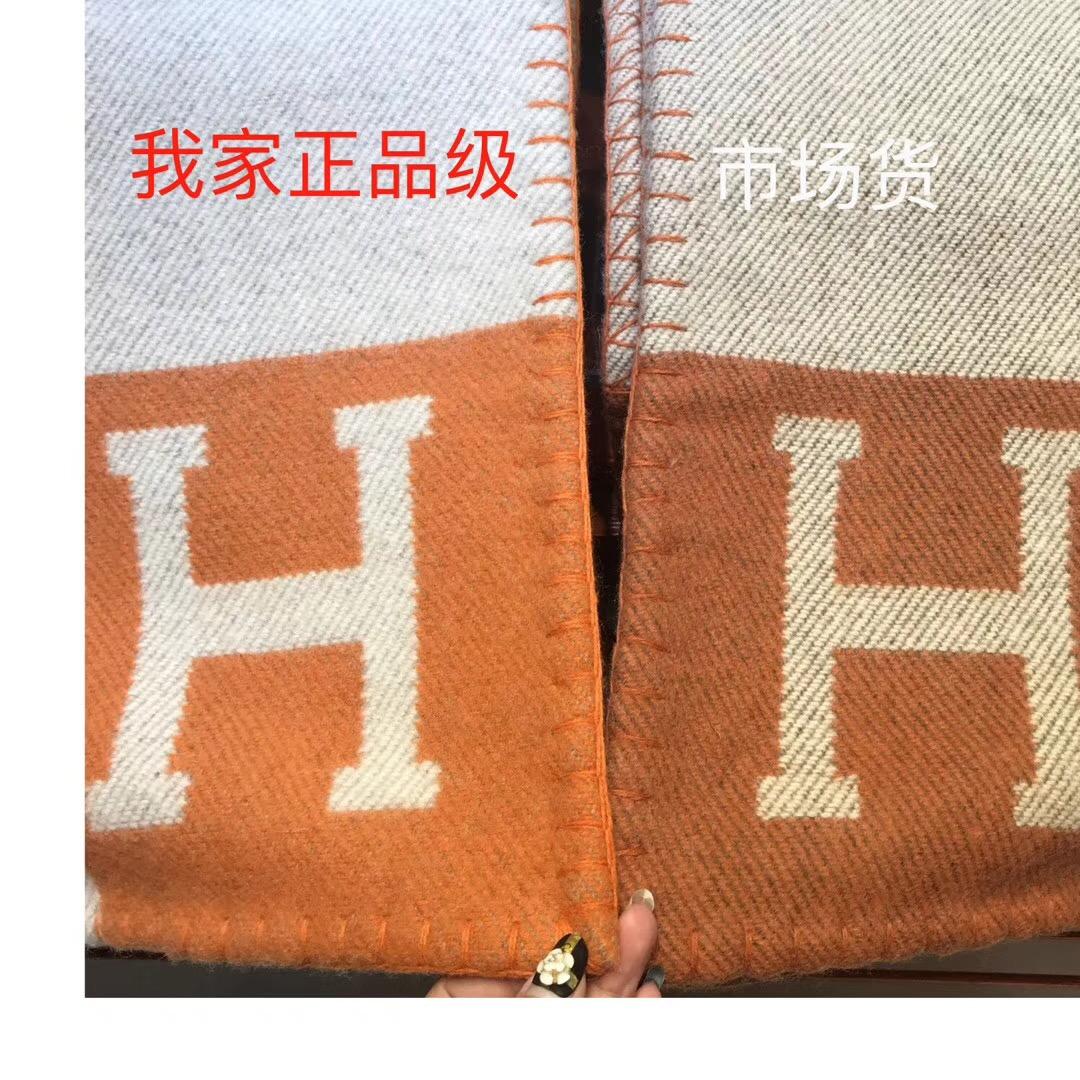 爱马仕中国官网 经典款毛毯 经典橙色 140*180cm 原版包装