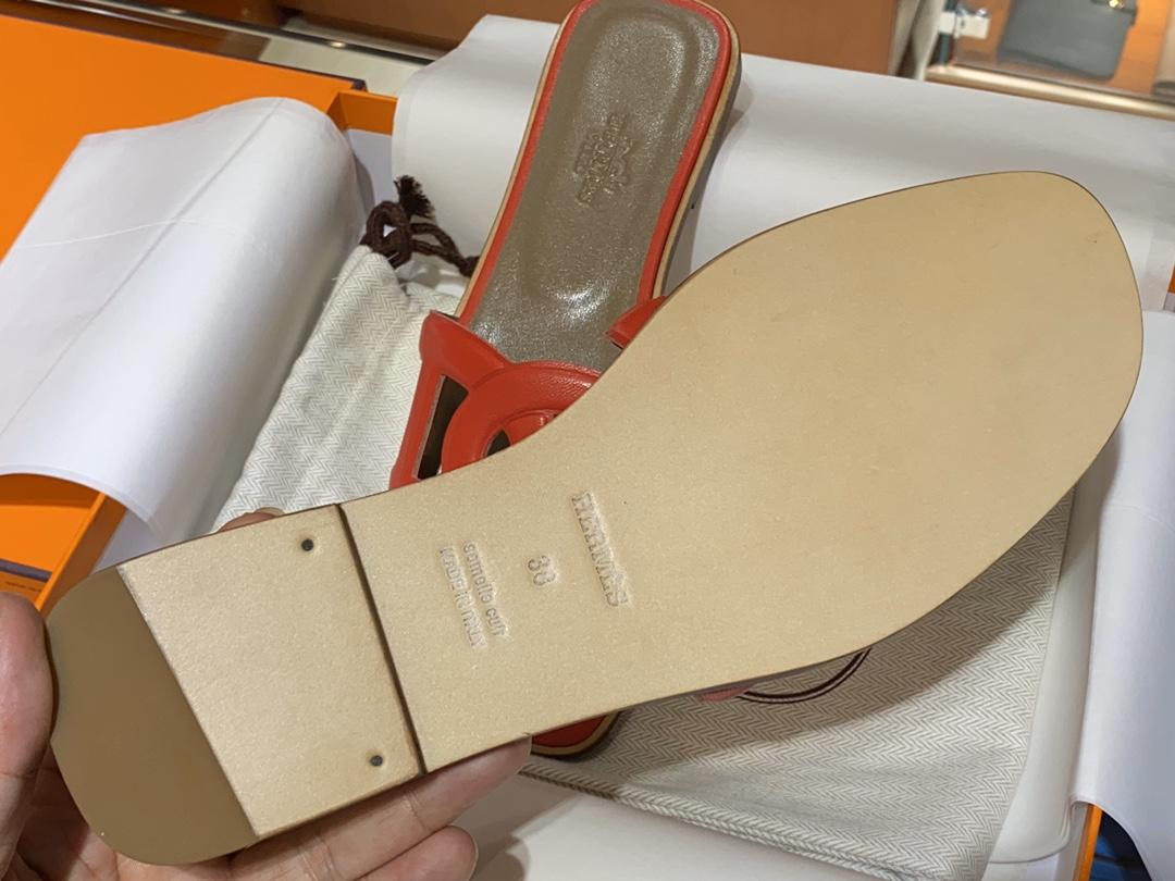 HMS环扣 猪鼻子拖鞋 高端订制独家品质全手工羊皮定制 看图说话质量赞到没朋友完美  Size:平跟34~41