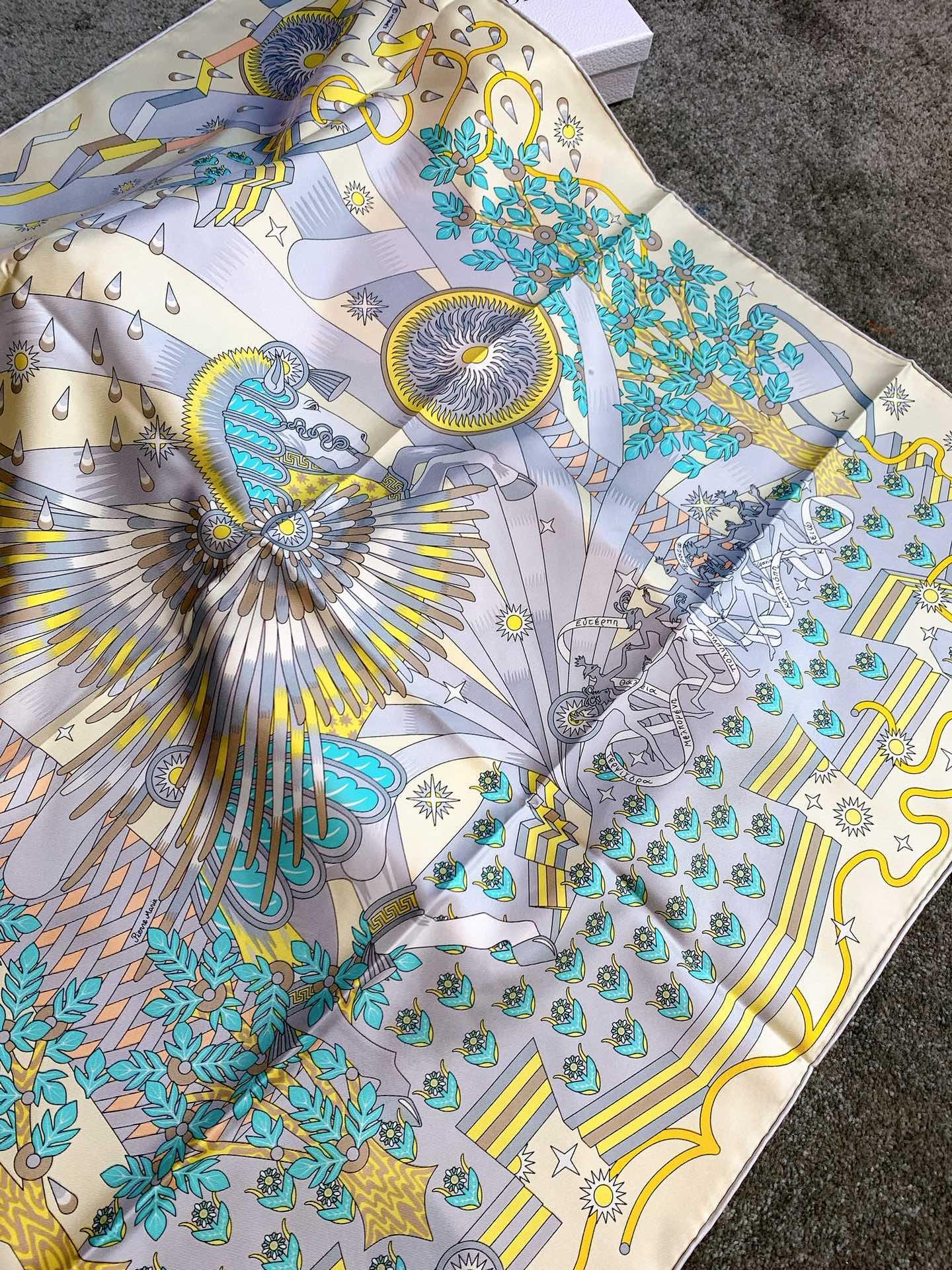 《飞马之源90cm方巾》 浅黄色