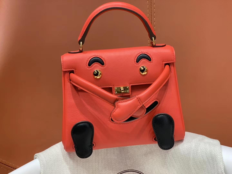 爱马仕中国官网 Kellydoll 小可爱 可接受定制 专柜颜色 番茄红