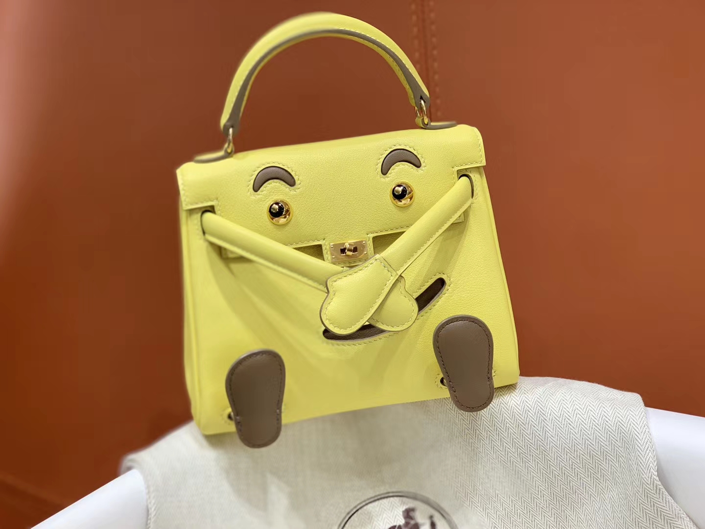 爱马仕中国官网 Kellydoll 小可爱 可接受定制 专柜颜色 柠檬黄