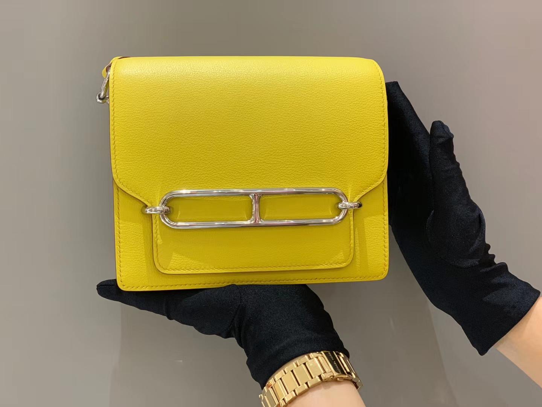 爱马仕香港官网 Roulis18cmEvercolor  9O —Jaune De Naples那不勒斯黄  介于琥珀黄-柠檬黄之间的黄色