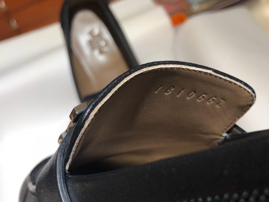 爱马仕 女款乐福鞋 康康H扣平底鞋 重工艺设计 高调 高端 高档 意大利树羔皮底 纯手工缝制工艺 高端订制 独家品质 材质:牛皮