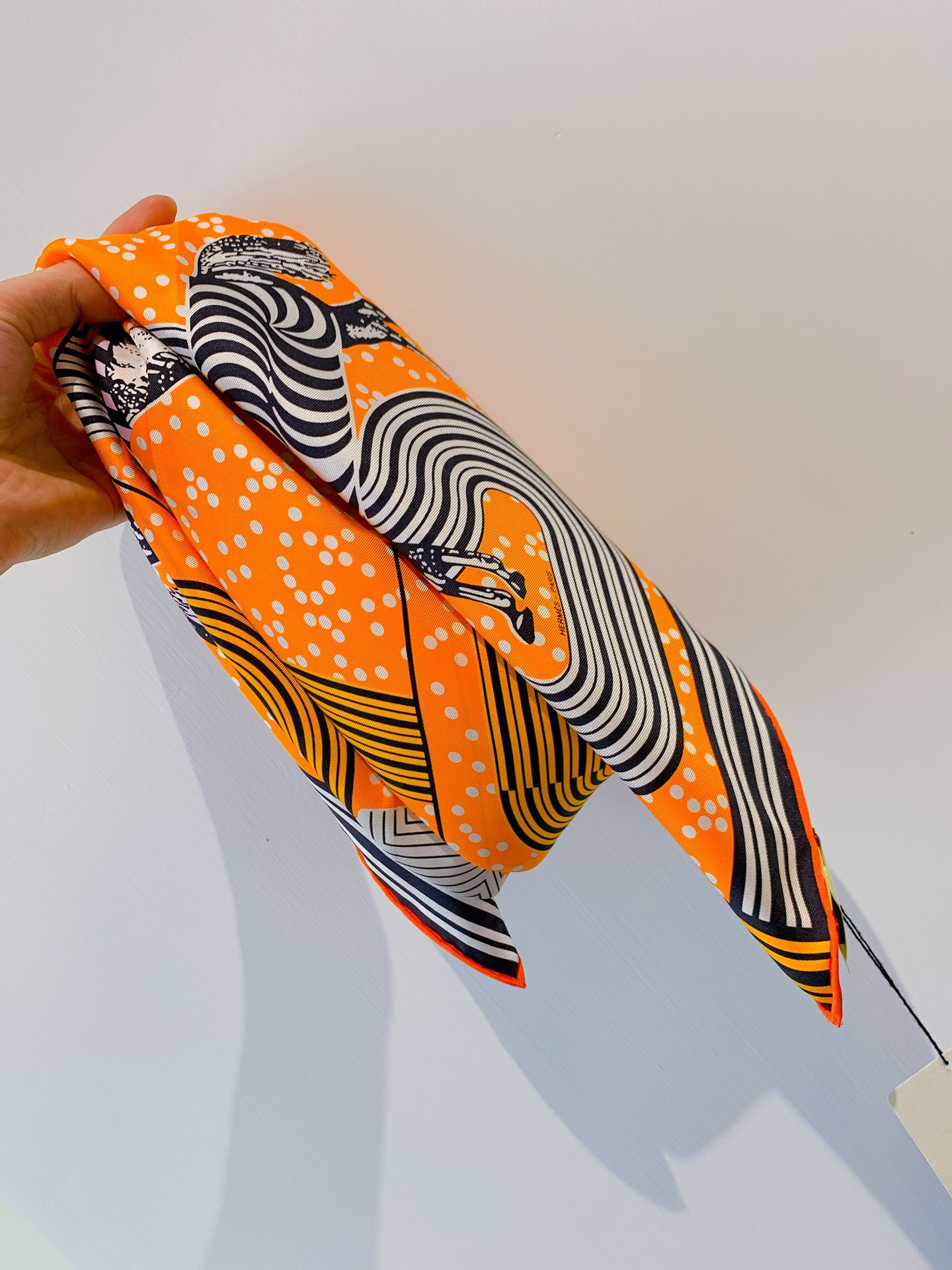 HERMES《波普式骏马》方巾 橙色 90*90cm