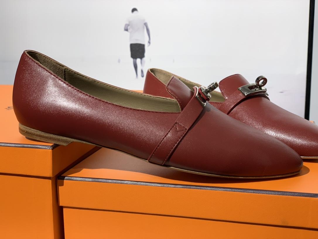 爱马仕 凯莉单鞋 纯手工制作 牛皮 35~41码 正码 码数不调换哈 酒红