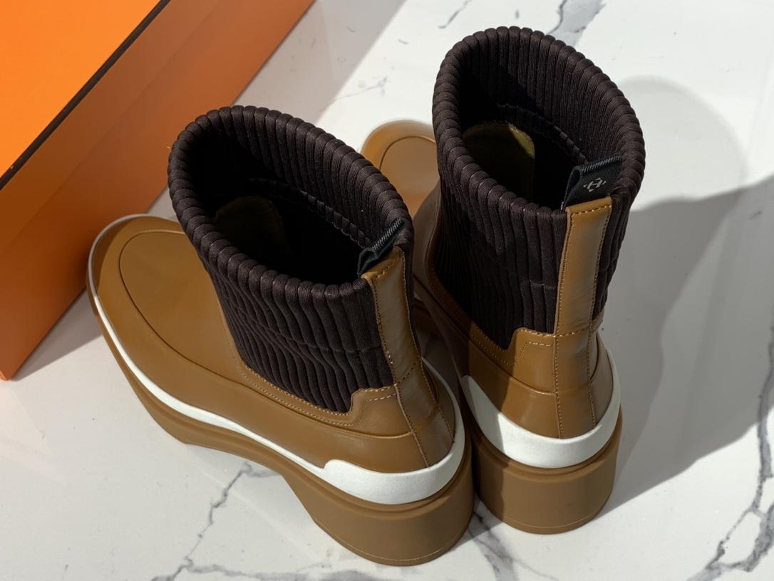 H新款短靴 小牛皮 纯手工制作 跟高:5cm Size:35~41  货期7天
