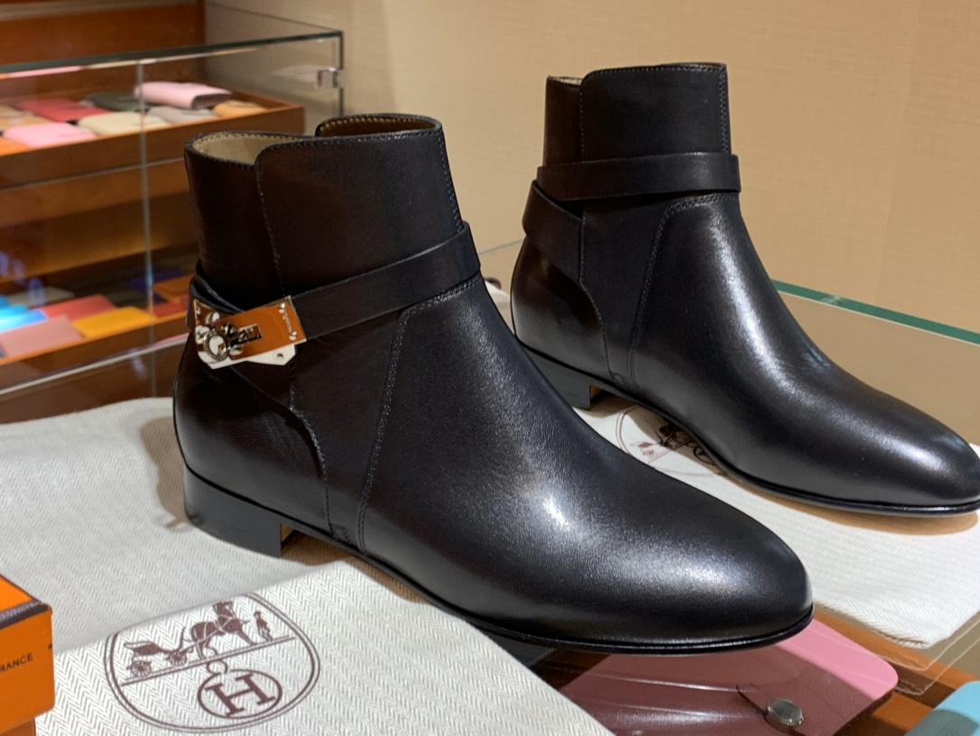 重磅推荐新品 爱马仕neo靴kelly短靴 意大利树羔皮底纯手工缝制工艺 高端订制独家顶级品质
