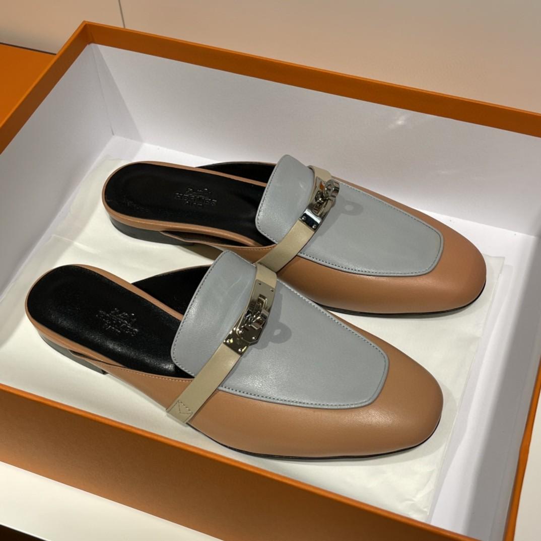 Hermes 爱马仕 专柜代购版本 凯莉款 单鞋 拼色系列 很特别的一款  纯手工定制 35-41码 正码 码数不调换