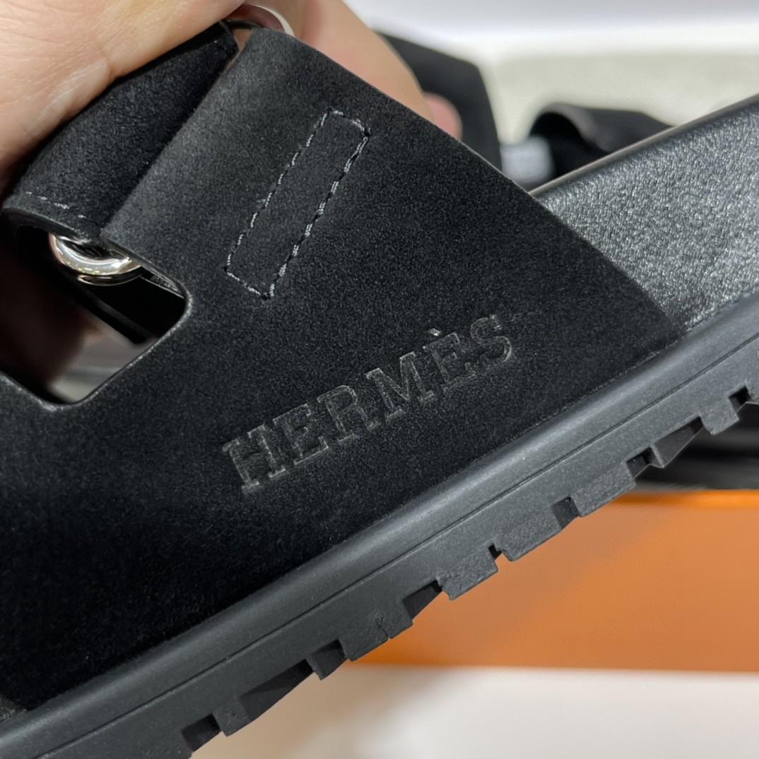 爱马仕 Chypre二舅鞋 出乎意料的好看丑萌丑萌哒 专柜最新款 魔术贴凉鞋 简单好搭配