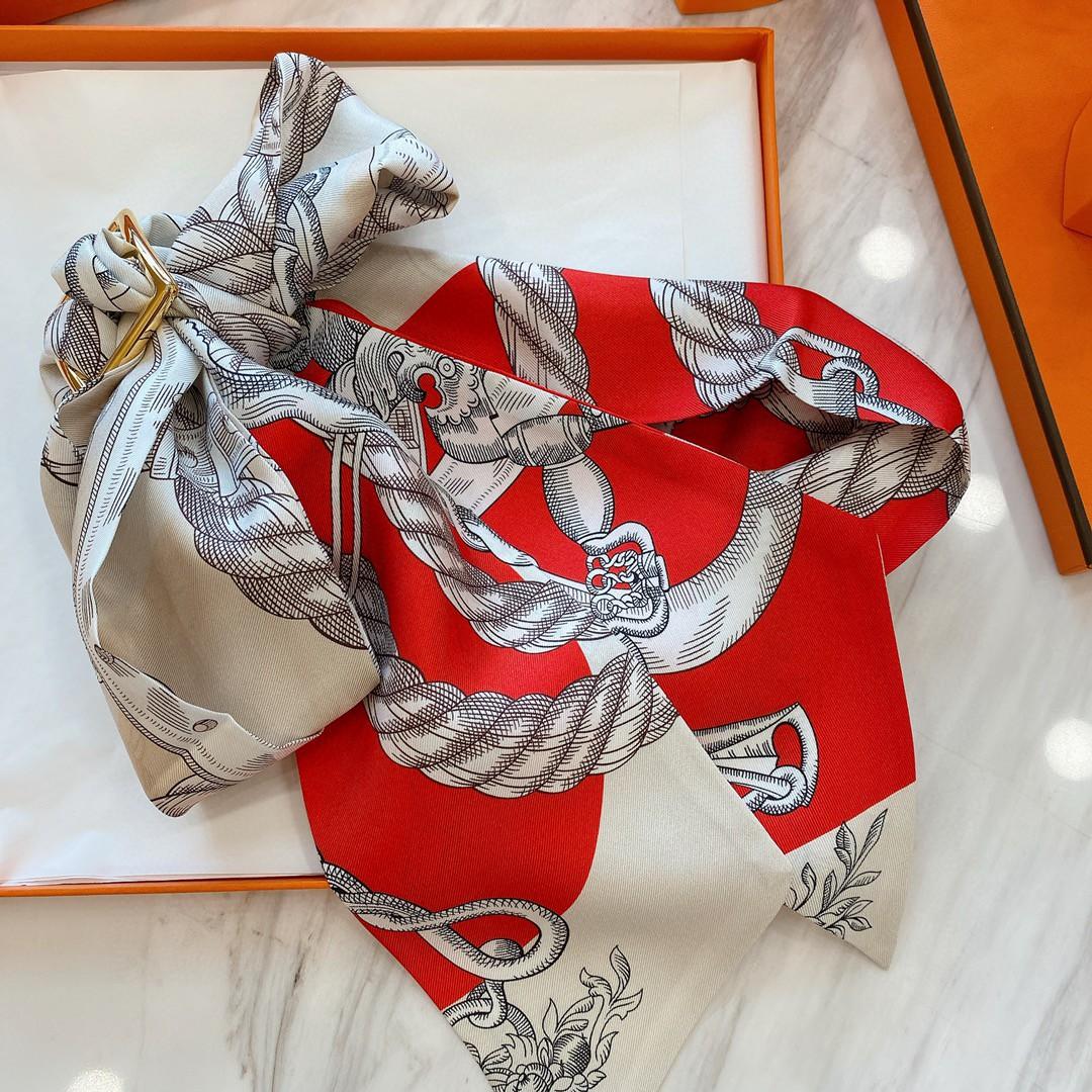 爱马仕 21夏季新款Maxi Twilly《神奇的动物》 红色~100%真丝10*180cm
